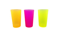 SET 3 VASOS NEVADO COLOR G112BC-T/WH3